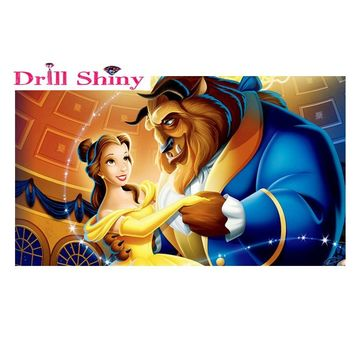 DIY Diamond Painting Beauty and the beast 5D Diamond Embroidery Art paintings Picture Of Rhinestones Cross-Stitch Home Decor