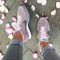 Nike Flyknit Racer Rainbow Casual Running Sport Shoes Sneakers