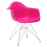 Padget Arm Chair in Fuchsia / Hot Pink