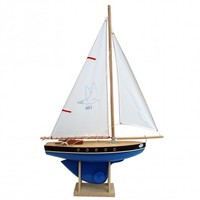 Childrens wooden toy sailing boat from Tirot