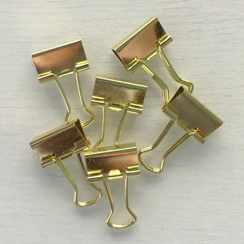 Planner Goodies | Gold Binder Clips