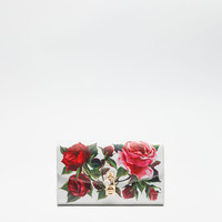 Clutch bags and evening bags | Dolce&Gabbana - PRINTED DAUPHINE LEATHER DOLCE CLUTCH