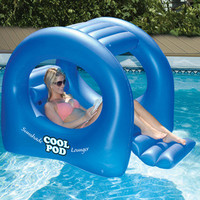 Swimline Cool Pod Sunshade Inflatable Lounger Swimming Pool Float