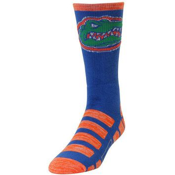 FLORIDA GATORS PATCHES QUARTER LENGTH SOCKS SIZE LARGE NEW FOR BARE FEET