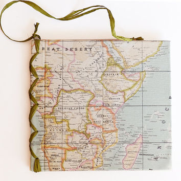 Map Travel Journal Travel Diary Holiday Sketchbook Travel Notebook, Blank Book, Hand Bound Journal, Reisetagebuch,Traveller,pilgrim,map,blue