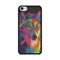 Colorful Wolf Carved® Maple iPhone 5C Case