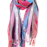 Aoki Fashion - Striped Pashmina Scarf