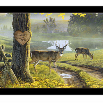 700078  Buck and Doe Personalized Print / Poster by GalleryWrapps