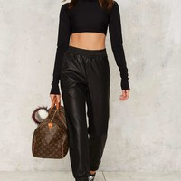 Bardot Owen Vegan Leather Pants