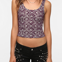 Sparkle & Fade Two Tone Cropped TankTop