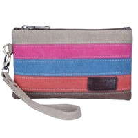 Lecxci Women's Canvas Smartphone Wristlets Bag, Clutch Wallets Purses for iPhone 6S / 7 Plus / 8 Plus / X