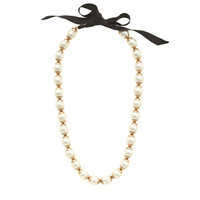 J.Crew Womens Gilded-Edge Pearl Necklace