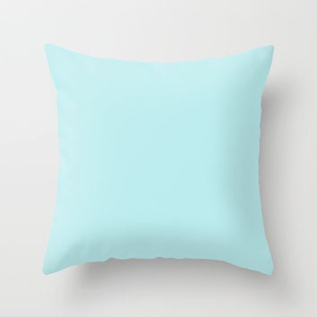 Pastel Turquoise Blue Throw Pillow by Beautiful Homes