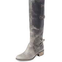 Charles David Women's Genoa Distressed Leather Boot - Black -