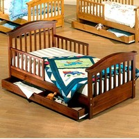 Sorelle Joel Pine Toddler Bed with Drawer | www.hayneedle.com