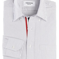 Thom Browne : CLASSIC OXFORD BUTTON DOWN SHIRT WITH GROSGRAIN PLACKET - MWL010AW3816