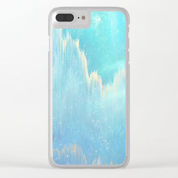 Blue Dreamscape Clear iPhone Case by printapix