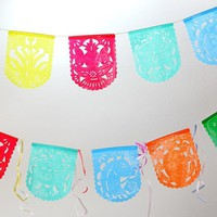 Papel picado bunting, Papel Picado decorations, Party Decor for Fiestas and Weddings