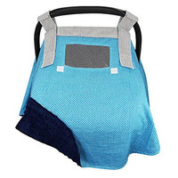 Car Seat Canopy Cover w/ Window, Luxuriously Soft, Well Made, Wind Resistant, Best Baby Shower Gift, Unique Design, Great Coverage, Fits All Infant Car Seat Brands, ON SALE BUY NOW!