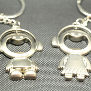 Free Engraving,Laugh keychain