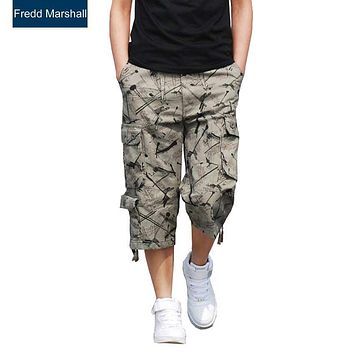 Men cargo Shorts plaid Bermuda Masculina Summer Men Casual Cargo Shorts men Camo Cargo Short Military Camouflage Short brand 231