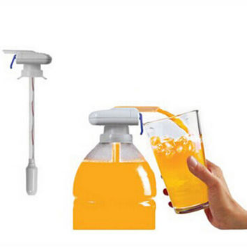 The Magic Tap Creative Beverage Drink Dispenser Electric Automatic Drinking Straw Fruit Juice Coke Milk Drinks Suck Tools