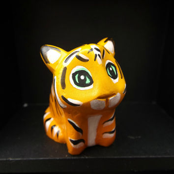 A Tiger Polymer Clay totem figurine Tiger Ornament (A)