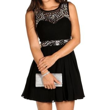 Mollie-black Homecoming Dress