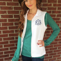 Monogrammed Fleece Vest, Monogram Vest, Bridesmaid Gift, Sorority Gift, Monogrammed Vest, Fleece Vest, Monogram Gift