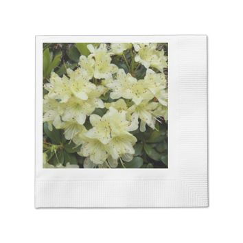 Yellow Rhododendrons Floral Napkin
