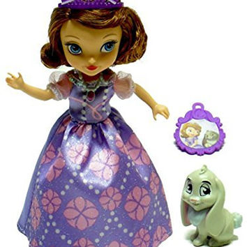 Disney Princess Sofia the First & Clover the Rabbit by Mattel - 2 Figures & Collectable Charm