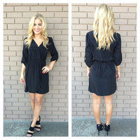 Black Kim Wrap Dress