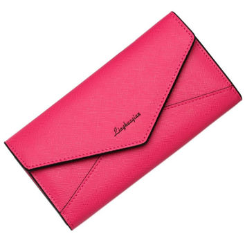 New Fashion Leather Women Wallet Vintage Solid Wallets Ladies' Long Clutches With Coin Purse Card Holder