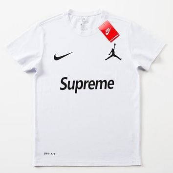 Supreme x Jordan x Nike Woman Men Fashion Shirt Top Tee