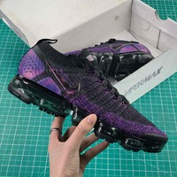 Nike Air Vapormax Flyknit 2.0 Black Night Purple Sport Running Shoes - Best Online Sale