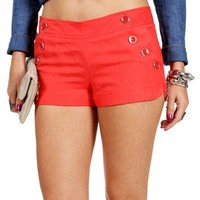 Coral Sailor Shorts