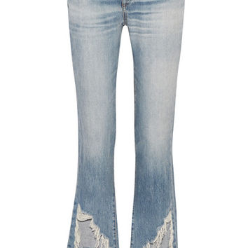 R13 - Kick Fit distressed mid-rise flared jeans