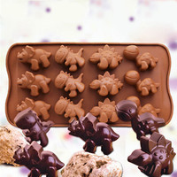 Dinosaur Silicone Fondant Mould Cake Candy Jelly Chocolate Muffin Baking Mold