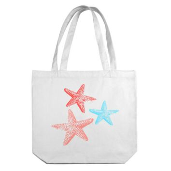 Sea Stars Canvas Tote