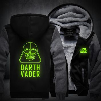 H0011New Winter Jackets and Coats film Star Wars hoodie Darth vader Hooded Thick Zipper Men cardigan Sweatshirts