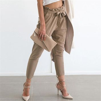 Chiffon high waist harem pants