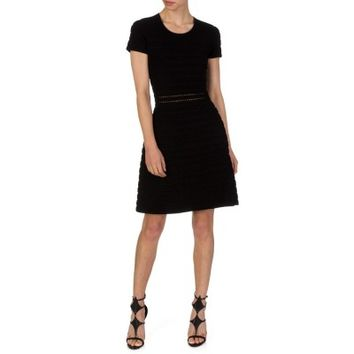 Michael Kors Black Ribbed Dress