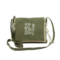 small size national style soft canvas women crossbody bag