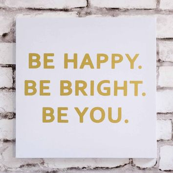 Be Happy Canvas