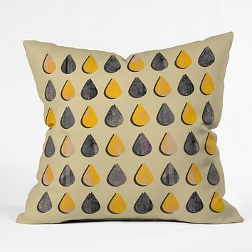 Elisabeth Fredriksson Raindrops 2 Throw Pillow