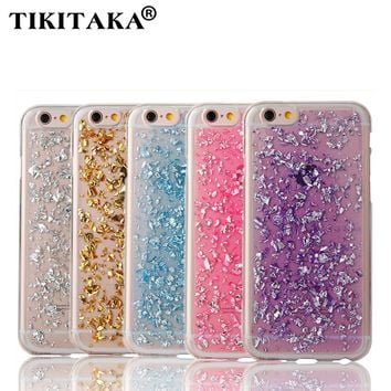 """i6 6S Soft TPU Case Gold Bling Paillette Sequin Skin Clear Ultra Slim Rubber Back Cover for iPhone 5 5S SE 6 6S 4.7"""" / Plus 5.5"""""""