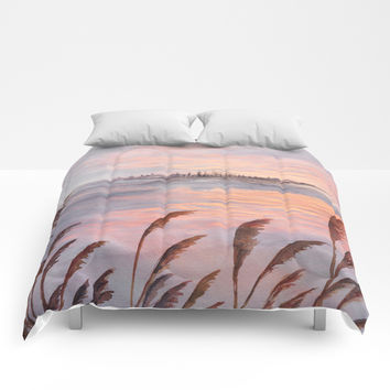 Abstract nature 03 Comforters by Marco Gonzalez