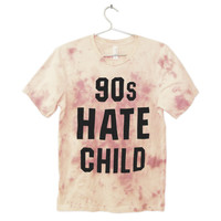 90s Hate Child T-shirt | Black on Red and Cream Tie Dye | Killer Condo Apparel