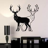 Vinyl Wall Decal Animals Deer Hunting Room Decoration Stickers Mural Unique Gift (ig3391)
