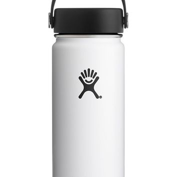 18 oz. Wide Mouth Hydro Flask - White